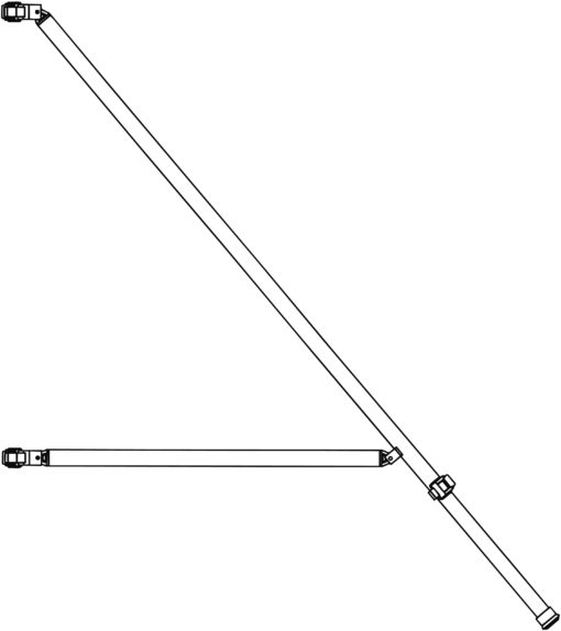 altrex Gerüst-Serie 4000 Dreiecksausleger - Stabilisator 2.50 Länge