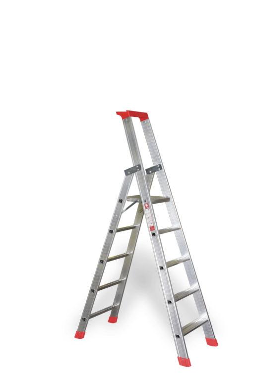euroline Stufenleiter mit Sicherheitsbrücke | Nr. 32577