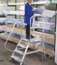 Guenzburger Aluminium Podestleiter einseitig begehbar