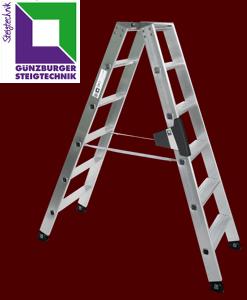 Günzburger Stufenleitern beidseitig begehbar